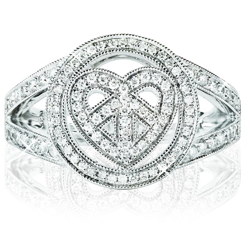 Circle Heart Ring