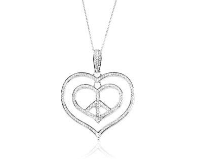 Double Heart in Heart Pendant