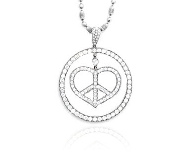Heart in One Circle Pendant