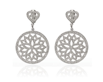 Lotus in one Circle Earrings