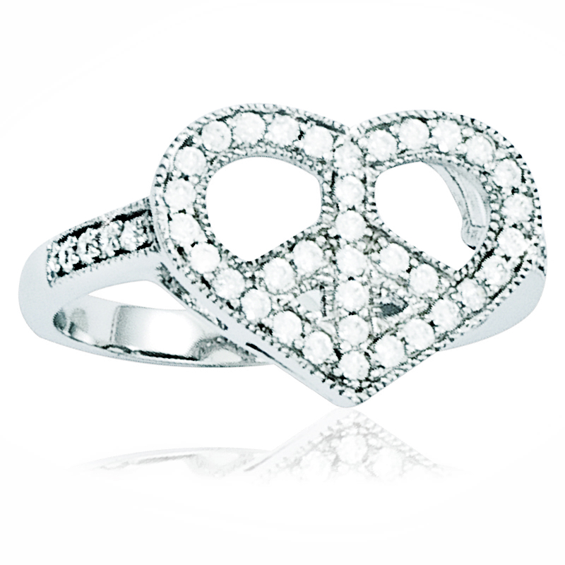 Heart & Peace Ring