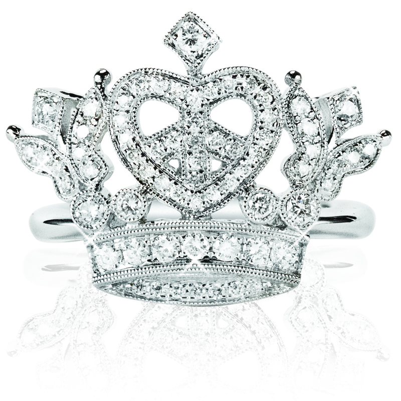 Royal Crown Heart Ring