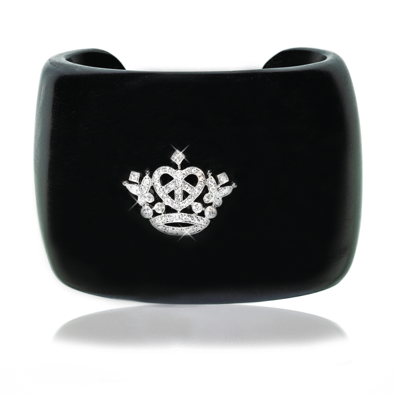Wooden Royal Crown Cuff