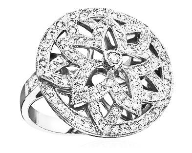 Circle Lotus Ring