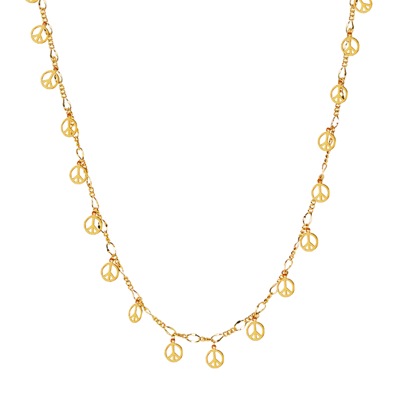BPHCN- Peace/heart Necklace Gold